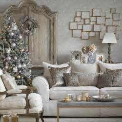 Formal Dining Room Table Centerpieces Sparkling White Christmas Living Room With Metallic