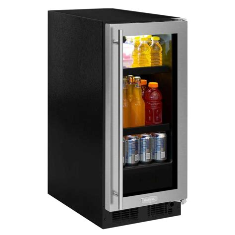 built in beverage center shop marvel 2 8 cu ft stainless steel built in beverage center at lowes