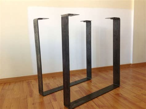 Metal Conference Table Legs 28 Quot X 20 Quot Flat Steel Table Leg Height 26 Quot To 32 Quot Set 2 Squares Steel Table Legs And Flats