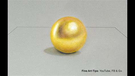 gold color pencil how to draw a gold sphere with color pencils narrated
