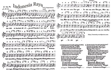 not angka lagu pop indonesia indonesia raya partitur sumanggakersa s blog