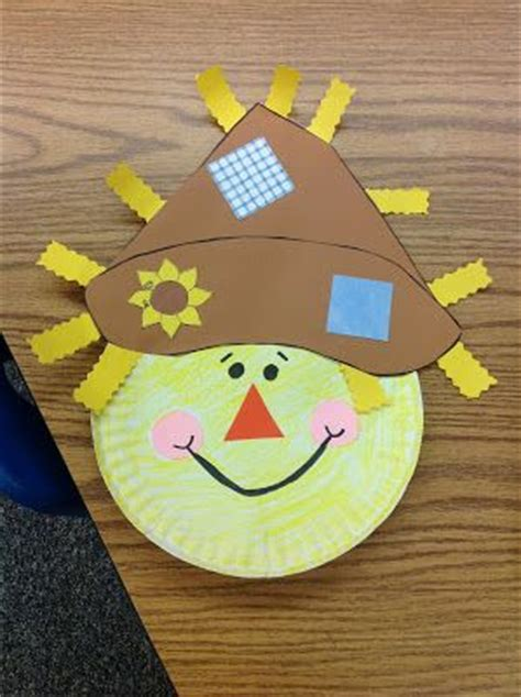 Paper Plate Scarecrow Craft - scarecrow paper plate preschool paper