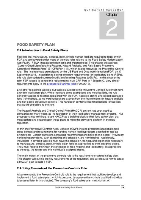Gma Handbook Safe Processing Food Safety Plan Template Fsma