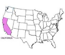 usa map california highlighted california state motto nicknames and slogans
