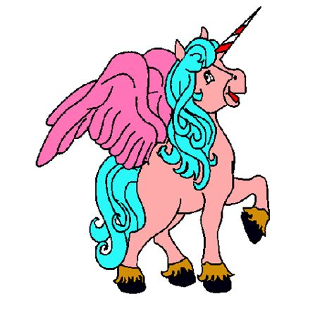 unicornios imagenes alas dibujo de unicornio con alas pintado por unicornio en