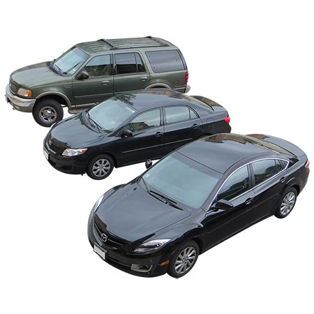 Car Photoshop Entourage by An Overhead View Of Three Cars In A Circular Parking Lot