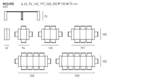 tavolo misure tavolo modello venere 3m rettangolari consolle allungabili