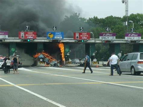Garden State Parkway Toll by Bergen Toll Plaza Hybrid Car Boron Extrication