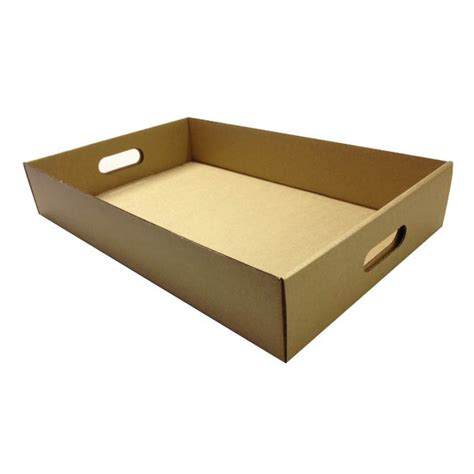 Packing And Moving by Food Tray With Handles Extra Large Brown Inside