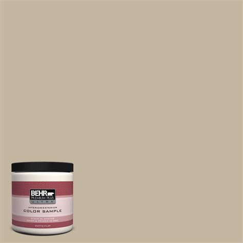behr premium plus ultra 8 oz n300 3 casual khaki interior exterior paint sle ul20416 the