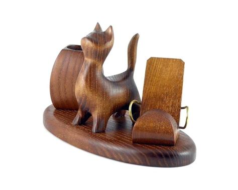 cat desk accessories quot cat quot desk accessories decorative carved iphone mobile