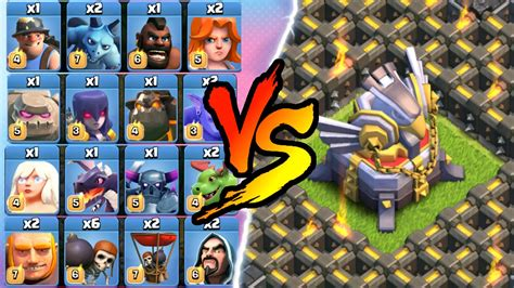 clash of clan troop photo clash of clans all max troop troll vs one base in