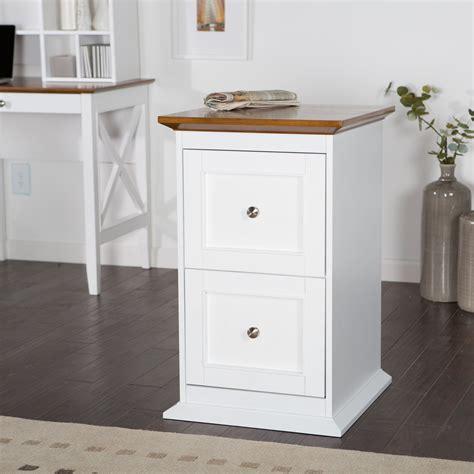 belham living hampton  drawer wood file cabinet white