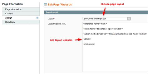 Layout Update Xml Static Block | magento 1 9 change layout just for one cms page for