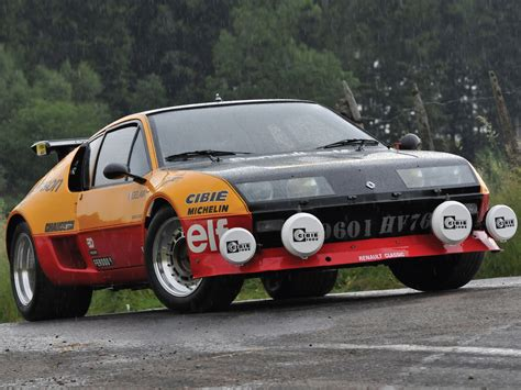 renault alpine a310 rally renault alpine a310 v6 b rally cars