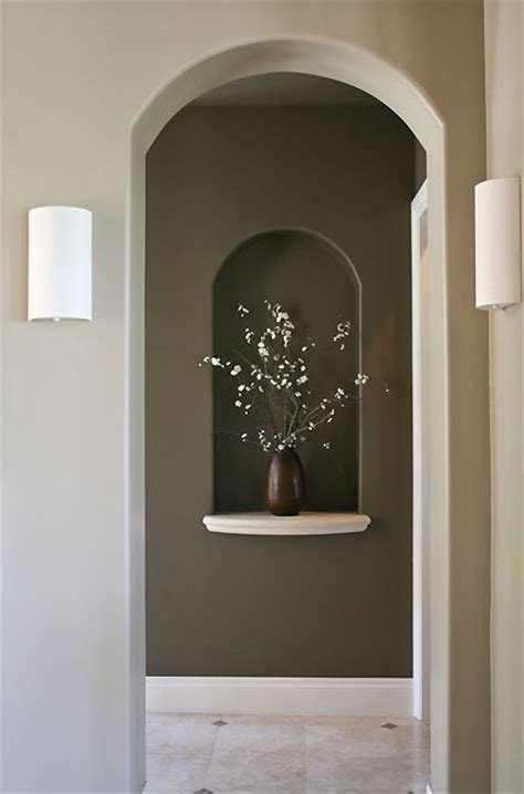 foyer niche decorating ideas neutral tones contemporary lighting niche web decor