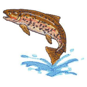 embroidery muster free embroidery design rainbow trout free embroidery