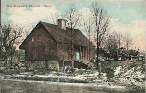 old house stamford ct old residnece in winter stamford ct postcard