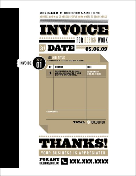 invoice template design invoice like a pro design exles and best practices