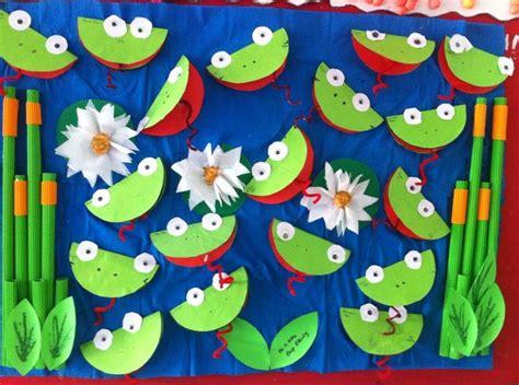 frog pattern for kindergarten free frog craft idea for kids 3 dieren pinterest