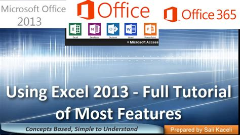 excel tutorial by sali kaceli learning excel 2013 a full tutorial of most features