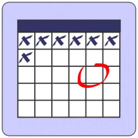 Count Calendar Days Calendar Count Back Days Vector Free