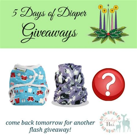 Free Cloth Diaper Giveaway - 5 days of cloth diaper giveaways on facebook zephyr hill