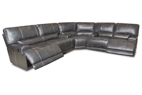 Leather Sectional Power Recliner by Cannon Leather Power Reclining Sectional