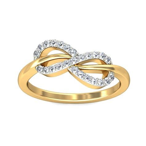 infinity design engagement ring in yellow