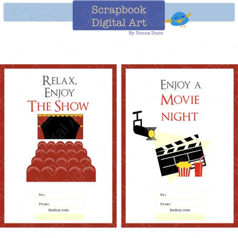 printable redbox gift tags printable redbox gift card tag relax enjoy the show movie