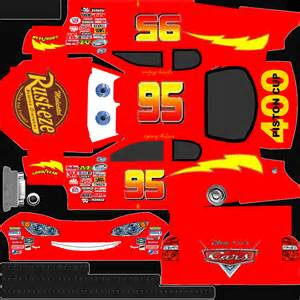Lightning Mcqueen Car Template Nascar 09 Bmxboy24 S Site For Cheats Tips