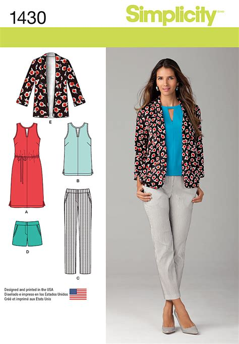 pattern review best patterns 2014 simplicity 1430 misses slim pants shorts dress or top