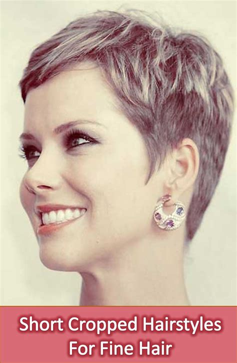 cropped hairstyles ideas  pinterest short