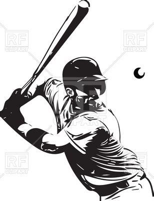 Baseball Player Batting Clipart Www Pixshark