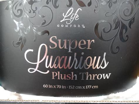 life comfort life comfort super luxurious plush throw