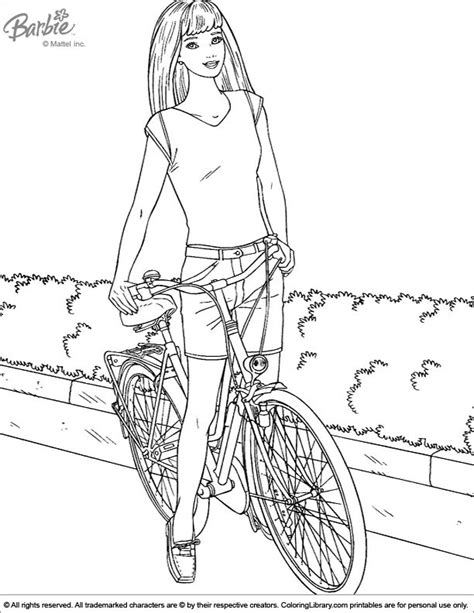barbie bike coloring page barbie coloring pages fashion fairytale barbie bike