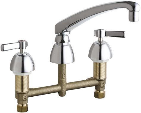Commercial Grade Kitchen Faucet Chicago Faucets 201 Al8 317abcp Chrome Commercial Grade Kitchen Faucet With Lever Handles 8