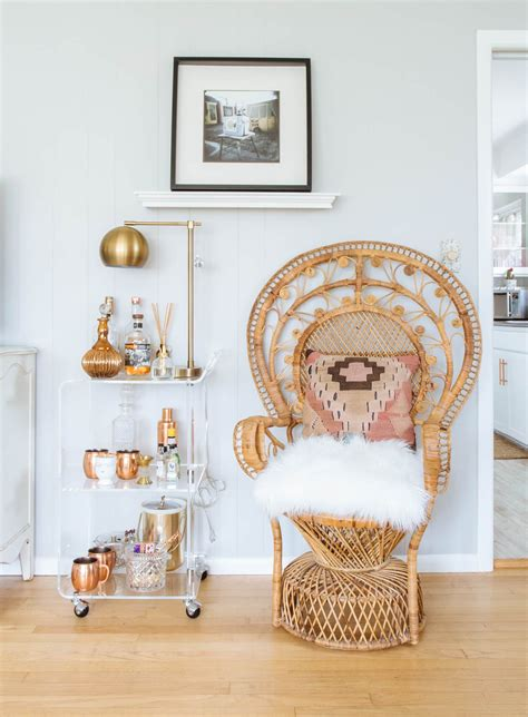 peacock chairs  boho chic style   home