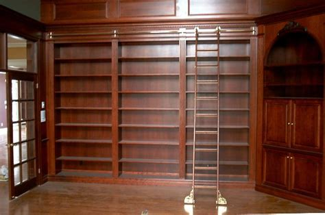 Custom designed to suit 14 foot ceilings in this grand library