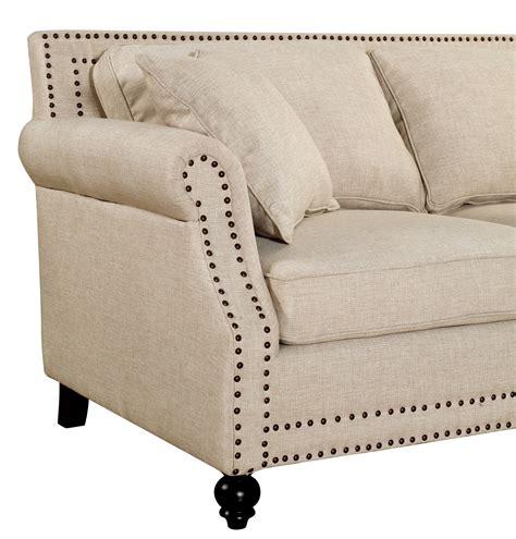 Camden Linen Sofa by Camden Beige Linen Sofa From Tov Tov 63802 3 Beige