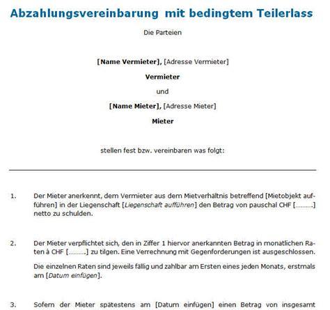 Muster Datenschutzerklärung Schweiz Abzahlungsvereinbarung Mit Bedingtem Teilerlass Downloaden