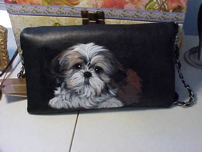 shih tzu purse shih tzu puppy handpainted clutch purse ebay