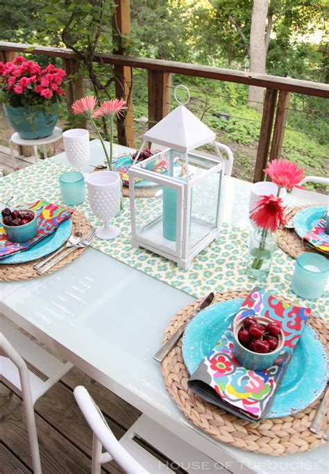 Ideas For Turquoise Table Ls Design My Deck Makeover Reveal House Of Turquoise Bloglovin