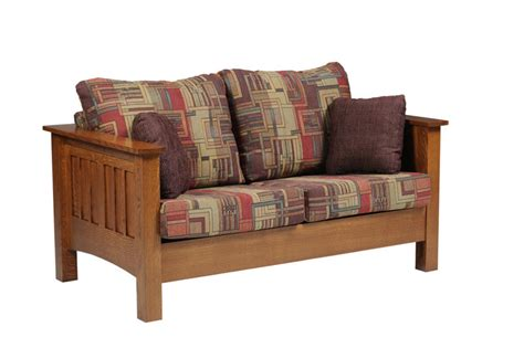 mission style loveseat mission seating loveseat ohio hardwood furniture