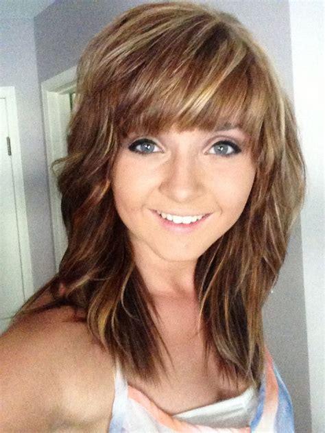 hairstyles with bangs and highlights blonde highlights and bangs hairstyles pinterest