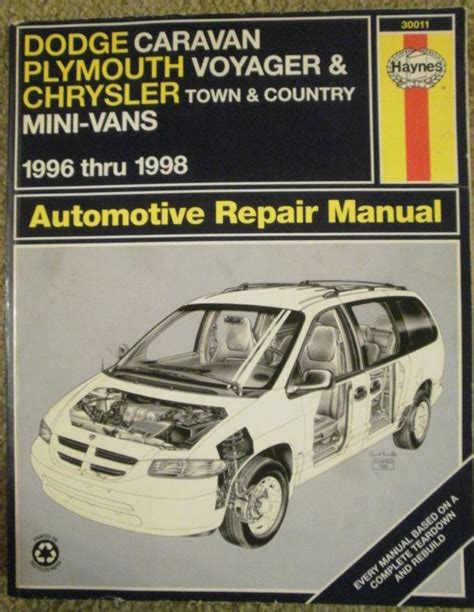 purchase hayne auto repair manual dodge caravan town country voyager 1996 1997 1998