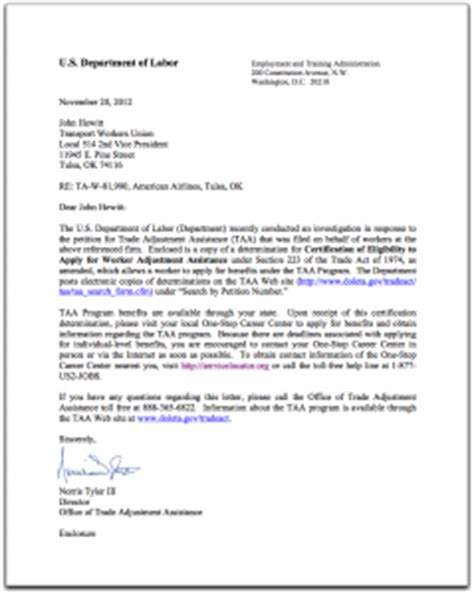 certification reimbursement letter we received certification for benefits from the