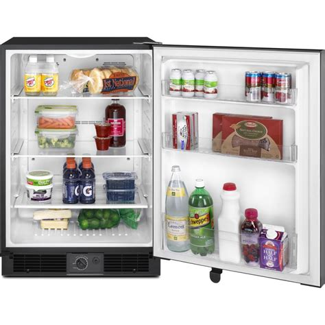 Clear Glass Door Refrigerator Maytag Murm24fwbs 24 Quot Undercounter Compact Refrigerator With 5 6 Cu Ft Capacity 3 Tempered