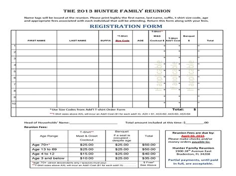 family reunion t shirt order form template family reunion t shirt order form wallpaper