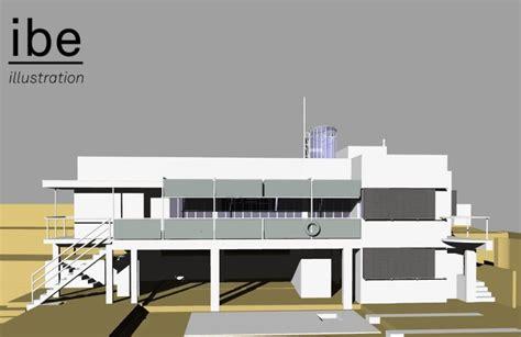 eileen gray e1027 house 3d illustration eileen gray